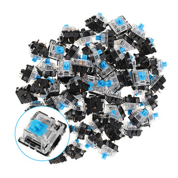 70PCS Pack 3Pin Gateron Clicky Blue Switch Keyboard Switch for Mechanical Gaming Keyboard