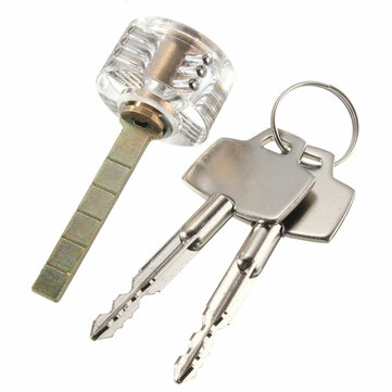 Välj Visbar Hänglås Transparent Cross Lock för Låssmed Practice Training Färdighetslås Picks Tools