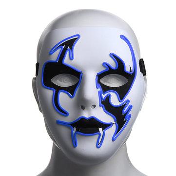 Dia das Bruxas Máscara LED Rosto Piscando Luminoso Máscara Festa Máscaras Iluminar a Dança do Dia Das Bruxas Cosplay