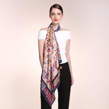 Sciarpa quadrata di stampa di seta delle donne di 90CM * 90CM sciarpa sciarpa di seta pura delle signore casuali