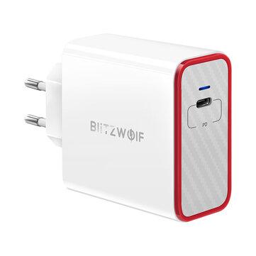 Chargeur USB BlitzWolf® BW-PL4 45W PD Type C Adaptateur EU avec Power3S Tech