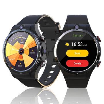 LEMFO LEM15 1.6inch Large Screen 4G+128G Phone Watch Dual Camera GPS+GLONASS Health Monitor Multi_Dials 900mAh IP67 Waterproof Android 10.7 4G Smart Watch