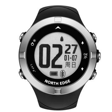 NORTH EDGE X-TREK2新GPS心拍数モニターアウトドアスポーツモードコンパス多言語ブルートゥーススマートウォッチ