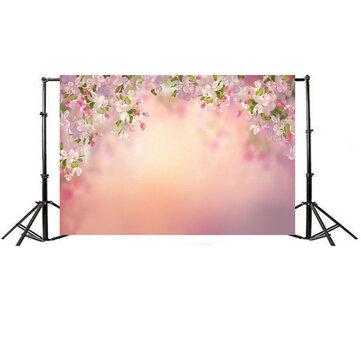 7x5FT Bunga Persik Papan Fotografi Backdrop Studio Prop Latar Belakang