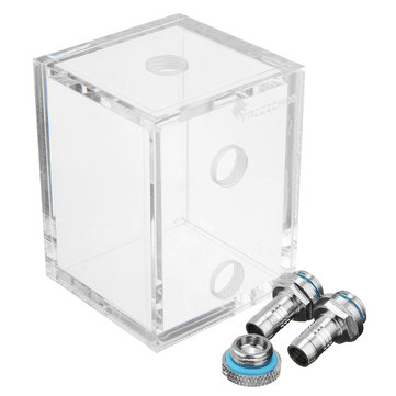 G1/4 Acrylic 250ml Water Tank With 2 Connector For PC CPU Liquid Cooling System