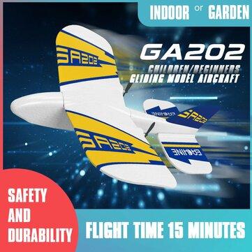 Eachine GA202 180mm Wingspan 2.4G 2CH EPP Mini Glider Indoor RC Airplane Beginner RTF Built-in Gyro Replaceable Battery