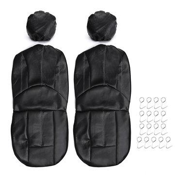 4PCS / सेट यूनिवर्सल पु चमड़ा कार सामने सीट सांस सुरक्षा कवर