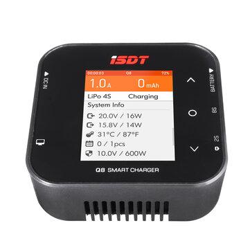 ISDT Q8 BattGo 500W 20A High Power Battery Balance Charger Discharger for 1 8S Lipo Battery