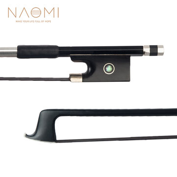 Buy NAOMI 4/4 Size Violin/ Fiddle Bow Carbon Fiber Bow Round Stick AAA Grade Black Horsehair Ebony Frog Paris Eye Inlay Beginner Use with 1 on Gipsybee.com