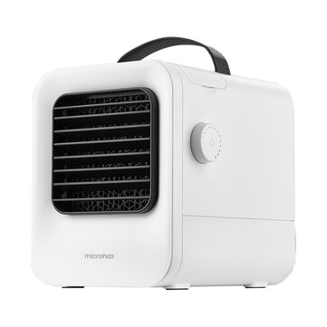 Microhoo MH02D Portable USB Air_Conditioning 4000mAh Built_in Battery 2.5m_s Cooling Fan Negative Ion Purifier Air Cooler Stepless Speed Regulation for Home Office