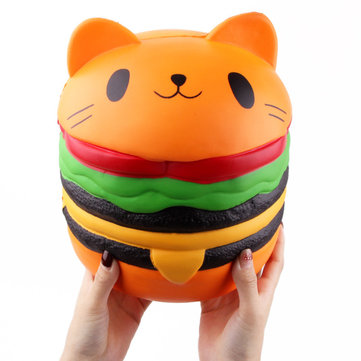 SanQi Elan Huge Cat Burger Squishy 8 66'' Humongous Jumbo 22CM Soft Slow  Rising With Packaging Gift Giant Toy