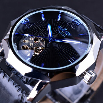 GMT964 Automatic Mechanical Watch Transparent Skeleton Dial Men Watch