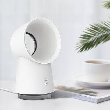 3 in 1 Mini Cooling Fan Bladeless Desktop Fan Mist Humidifier w/ LED Light