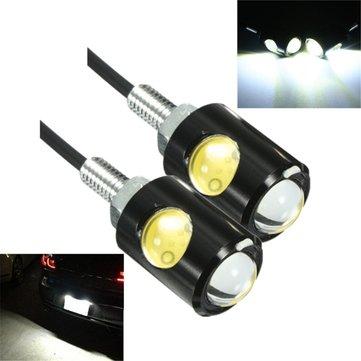 Cặp xe máy 3W 6000K 12V LED xe máy Eagle Giấy phép mắt Đèn tấm vít Bolt