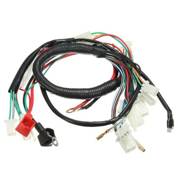 wiring harness loom for chinese electric start quads 50cc 70cc 90cc  110cc 125cc(13)us$7 25cod
