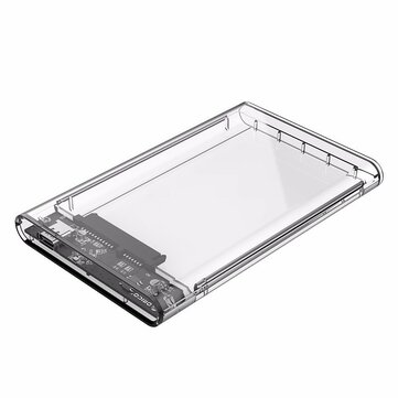 ORICO 2.5 inch Type-C to SATA3 Transparent Hard Drive Enclosure External SSD HDD Case Support UASP