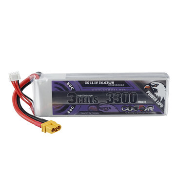 CODDAR 11.1V 3300mAh 3S 80C High Discharge Lipo Battery XT60 Plug for RC Drone