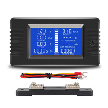 PZEM-015 Battery Tester DC Voltage Current Power Capacity Internal And External Resistance Residual Electricity Meter With 50A Shunt