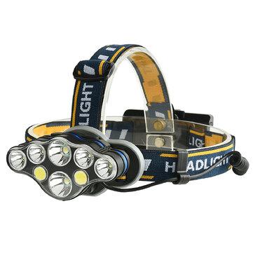 XANES 2606-8 3300LM 2 * T6 + 4 * XPE + 2 * COB 6 Modalità faro per bicicletta 2 * 18650 Batteria Interfaccia USB ricaricabile