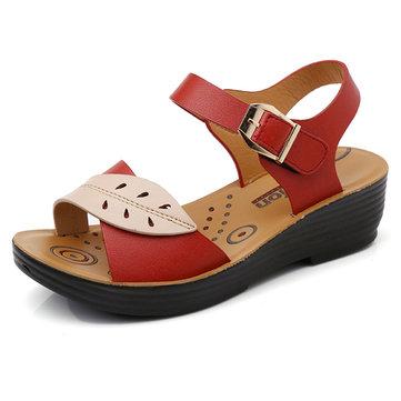 Women Shoes Comfortable Buckle Wedges Sandals