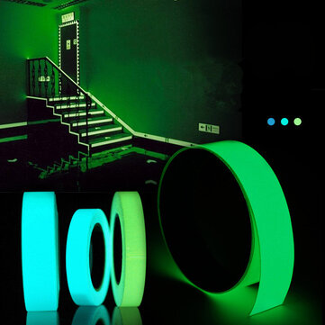 5mx15mm Luminous Tape Self-adhesive Green Blue Glowing In The Dark Safety Stage Decor Sticker
