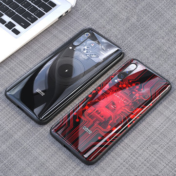 Bakeey Luxury Shockproof Tempered Glass Soft Silicone Edge Protective Case for Xiaomi Mi9 / Mi9 Transparent Edition