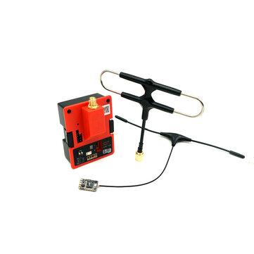 Mô-đun máy phát tầm xa 900 MHz FrSky R9M 2019 và R9 MM với ăng-ten Super 8 và T được gắn