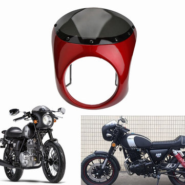 7inch Motorcycle Retro Cafe Racer Handlebar Fairing Windshield & Mounting For Harley