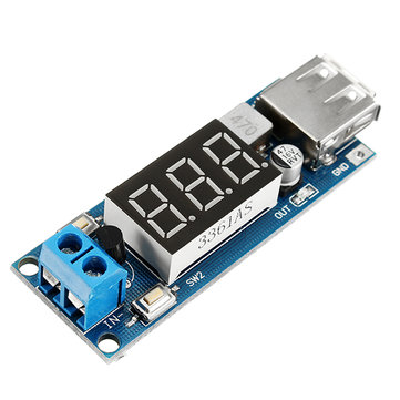10pcs DC-DC 2 In 1 6.5V-40V To 5V Buck Step Down Power Module Voltmeter Automatic Calibration Stable Output 5V 2A USB Charging Port Reverse Connection Over-Current Over-Temperature Protection