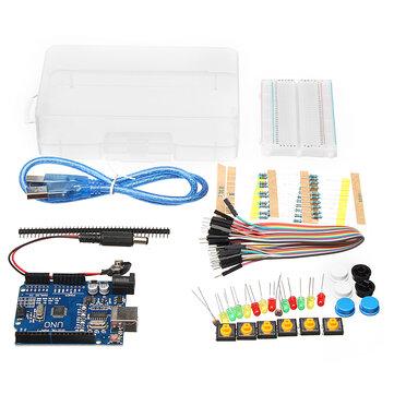 基本的なスターターキットUNO R3ミニブレッドボードLED JumperボックスにArduino用ワイヤーボタン