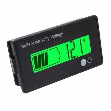 12V/24V/36V/48V 8-70V LCD Acid Lead 3.7V Lithium Battery Capacity Indicator Digital Voltmeter