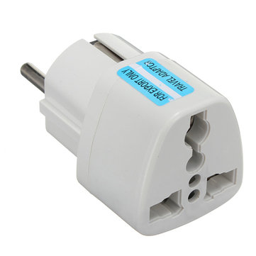 Buy Universal AU US UK to EU Europe Plug AC 250V Power Travel Adapter Plug, Compact and lightweight. with Litecoins with Free Shipping on Gipsybee.com