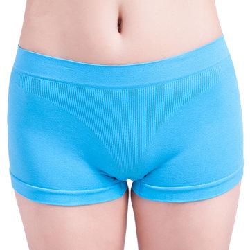 महिला लोचदार सांस लेने योग्य स्वास्थ्य निर्बाध बॉयशॉर्ट्स योग पैंट बॉक्सर अंडरवियर