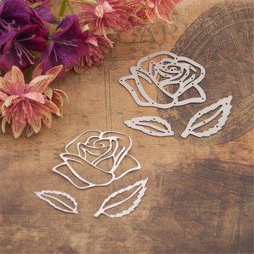 Rose Flower Cutting Dies Scrapbooking Album DIY Embossing Decor Paper Card Craft