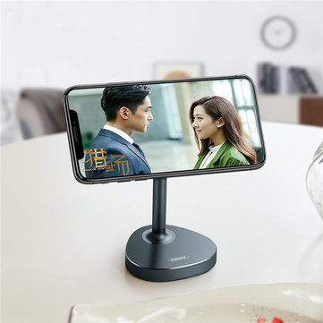 Remax Metal Magnetic 360 Degree Rotation Desktop Bracket Phone Holder Stand for Xiaomi iPhone Pads