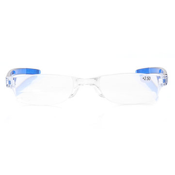 KCASA Light Weight Blue Rimless Resin Magnifying Best Reading Glasses Fatigue Relieve