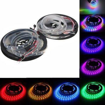 WS2811 5M LED Strip 240 SMD 5050 RGB Dream Color Light Waterproof IP65 DC 12V