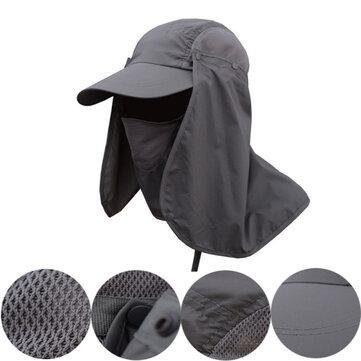 पुरुषों त्वरित सूखी गर्दन कवर सूर्य मत्स्य पालन Hat कान फ्लैप बाल्टी आउटडोर UV संरक्षण कैप
