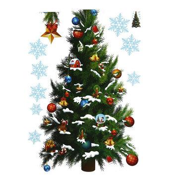 Pesta Natal Dekorasi Rumah Removable Hijau Pohon Natal Stiker Dinding Untuk Anak Anak Anak Anak Mainan