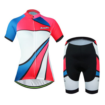 Whirlwind Girl Bicycle Short Sleeve Breathable Jerseys and Shorts Bike Wear Aogda Bicycle Kit