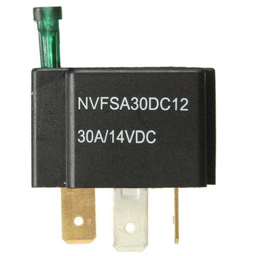 12V 30A Car 4-Pin Relay Normally Open Contacts Fused On/Off Metal Bracket