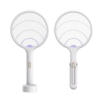 Qualitell UV Light Mosquito Swatter Rechargeable Handheld Electric Mosquito Killer Insect Fly Wall-mounted Mosquito Dispeller