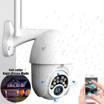 10LED 5X Zoom HD 2MP IP Security Camera WiFi sans fil 1080P Extérieur PTZ Imperméable Vision Nocturne ONVIF