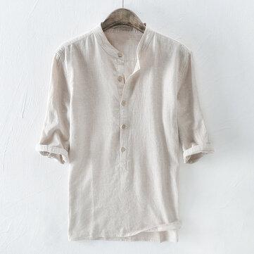 पुरुषोंका100%कपासढीलाआधा आस्तीन आरामदायक टी शर्ट