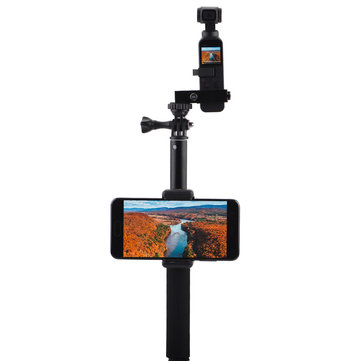 Extendable Stick Rod With Smartphone Adapter Holder Accessories Part For DJI Osmo Pocket 3-Axis Stabilized Handheld Gimbal