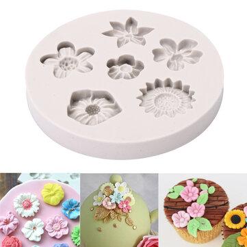 Flower Silicone Fondant Mold Cake Mould Decorating Baking Mold Sugarcraft Pastry Tool
