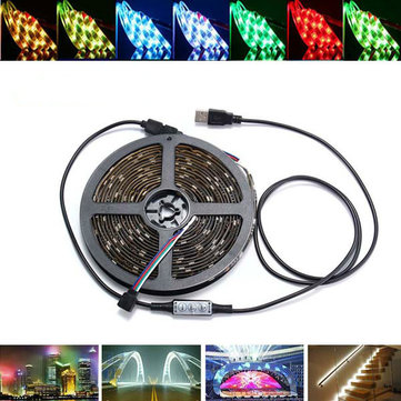 0.5 / 1/2/3/4 / 5M USB RGB impermeabile SMD5050 striscia LED Light Bar Tv Sfondo di illuminazione Kit lampada DC5V