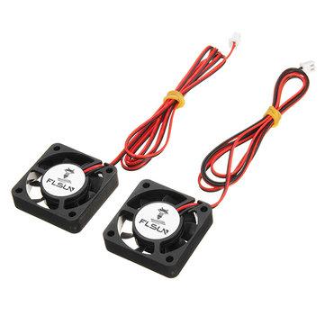 Ventilateur de refroidissement de FLSUN® 2PCS 40 * 40 * 10mm DC pour l'imprimante 3D