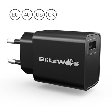 BlitzWolf® BW-S9 18W USB Charger EU US UK AU Adapter with Power3S Tech