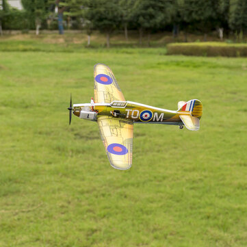 Dancing Wings Hobby E28 Hurricane MK.1 420mm Wingspan Brushed Power Micro PP War Plane RC Airplane PNP with FrSky/Flysky/S-FHSS/DSMX/2 Receiver